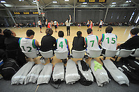 The Waitakere West boys team watches from the bench during day three of the National Under-15 Basketball Championship at the ASB Sports Centre, Kilbirnie, Wellington, New Zealand on Friday, 26 July 2013. Photo: Dave Lintott / lintottphoto.co.nz