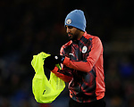 Riyad Marhez of Manchester City puts on a bib during the Premier League match at Turf Moor, Burnley. Picture date: 3rd December 2019. Picture credit should read: Simon Bellis/Sportimage