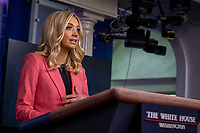 White House Press Secretary Kayleigh McEnany delivers remarks during a press briefing in the James S. Brady Briefing Room of the White House in Washington, D.C. on Wednesday, May 20, 2020. <br /> Credit: Tasos Katopodis / Pool via CNP/AdMedia