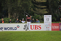 Julian Suri (USA) on the 17th tee during Round 3 of the UBS Hong Kong Open, at Hong Kong golf club, Fanling, Hong Kong. 25/11/2017<br /> Picture: Golffile | Thos Caffrey<br /> <br /> <br /> All photo usage must carry mandatory copyright credit     (© Golffile | Thos Caffrey)