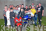John  O'Grady  and Gerard O'Grady on their bikes  with the crowd of supporters who gathered at Brendan Purcell's bar ballyduff  on Saturday evening after he participated in the Poker run from ball duff to Ventry to raise funds for the three O'Grady brothers John,Gerardand David who are going to Niall Mellon Project to South Africa..   Copyright Kerry's Eye 2008