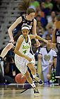 Apr 7, 2013; Notre Dame Skylar Diggins races for the ball against Connecticut during the semifinals of the 2013 NCAA women's basketball Final Four at the New Orleans Arena. Connecticut defeated Notre Dame 83 to 65. Photo by Barbara Johnston/ University of Notre Dame