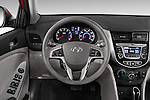 Car pictures of steering wheel view of a 2015 Hyundai Accent GLS 4-Door 6-Speed Automatic 2 Door Sedan Steering Wheel