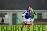 Templenoe's Sean Sheehan and Curraha's Brian Murphy in the AIB GAA Football All Ireland Junior Club Championship.