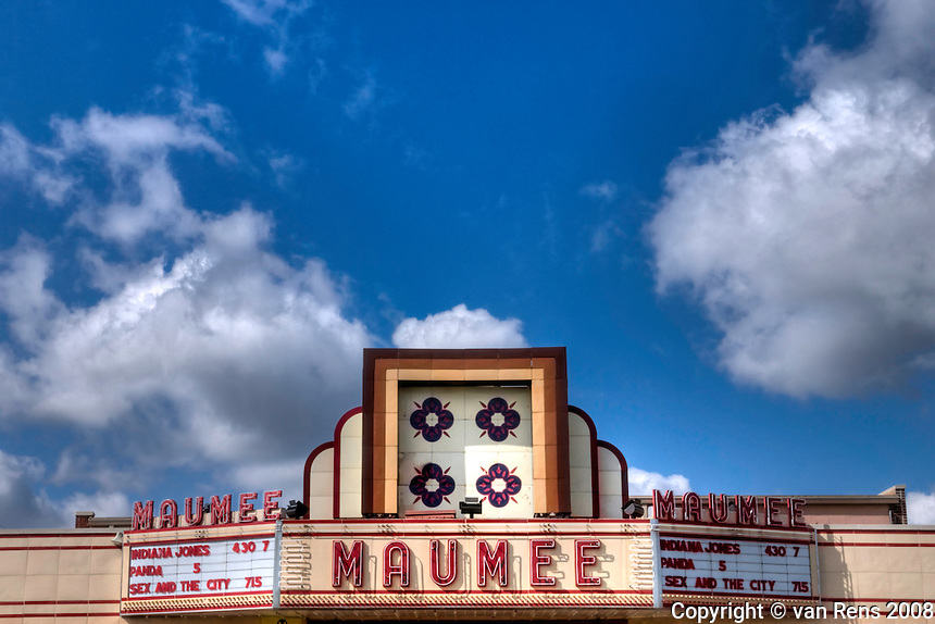 Maumee Theater in Maumee, OH. classic art deco style marque.