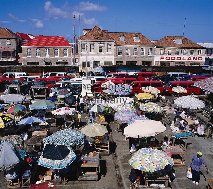 Karibik, Kleine Antillen, Grenada: Markt   Caribbean, Lesser Antilles, Grenada, St. Georges: Market Scene