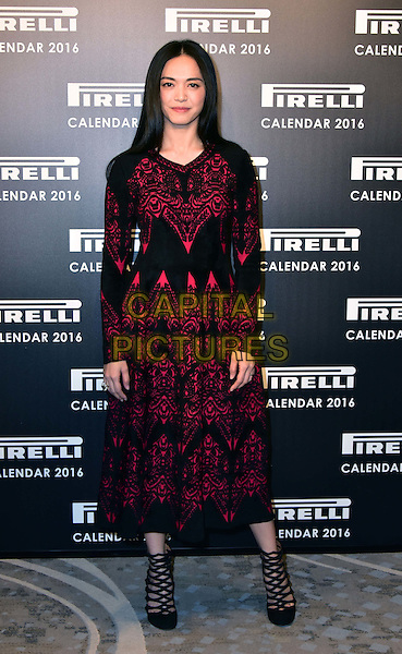 LONDON, ENGLAND - NOVEMBER 30: Yao Chen at a photocall for the launch of the 2016 Pirelli calendar in London on November 30, 2015<br /> CAP/JOR<br /> &copy;JOR/Capital Pictures