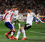 Atletico de Madrid´s Fernando Torres and Valencia CF´s Jose Gaya during 2014-15 La Liga match between Atletico de Madrid and Valencia CF at Vicente Calderon stadium in Madrid, Spain. March 08, 2015. (ALTERPHOTOS/Luis Fernandez)