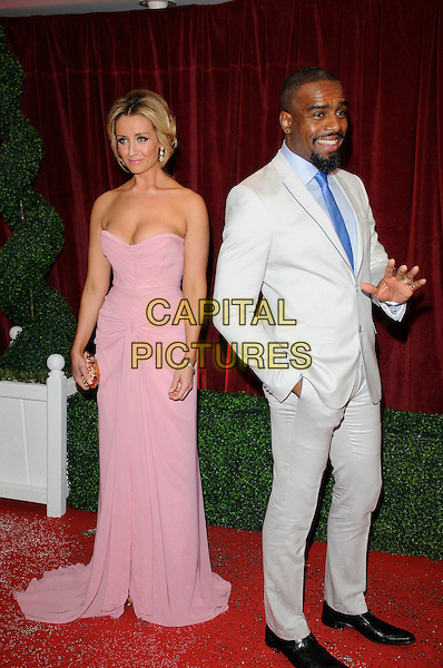 Catherine Tyldesley.Coronation Street.Attending the British Soap Awards 2012.at the London Television Centre, London, England, UK, 28th April 2012..arrivals full length strapless pink long maxi dress cleavage .CAP/CAN.©Can Nguyen/Capital Pictures.