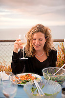 having dinner overlooking Carbis bay with family. Cornwall, England