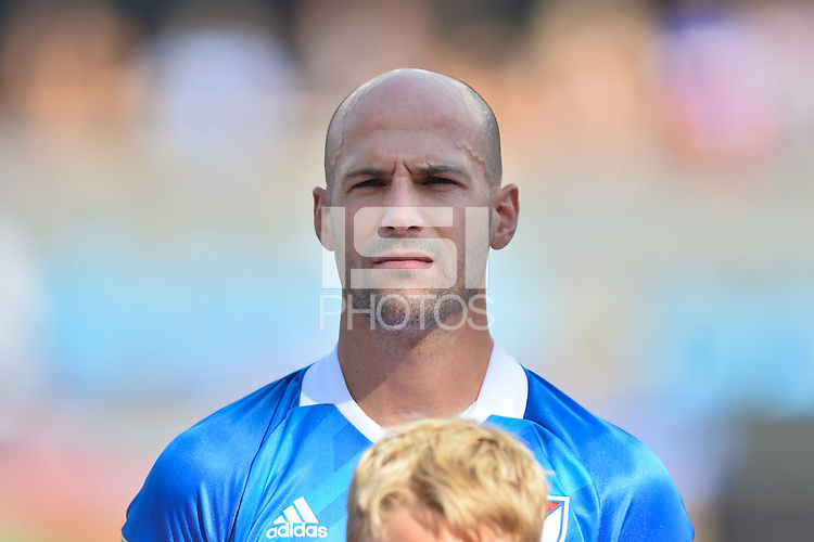 San Jose, CA - Thursday July 28, 2016: Jelle Van Damme prior to a Major League Soccer All-Star Game match between MLS All-Stars and Arsenal FC at Avaya Stadium.