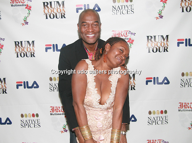 Carl Nelson and Myrdith Leon-McCormack Attend Jocelyn Taylor's Birthday Celebration and Official Launch of JRT Multimedia, LLC (A Luxury Branding Company)at Nikki Beach Midtown, New York, 3/26/2011