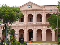 Pink Congressional Building of Asuncion, Paraguay.