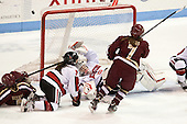 Melissa Bizzari (BC - 4), Maggie DiMasi (NU - 4), Chloe Desjardins (NU - 29), Dru Burns (BC - 7) - The Northeastern University Huskies defeated Boston College Eagles 4-3 to repeat as Beanpot champions on Tuesday, February 12, 2013, at Matthews Arena in Boston, Massachusetts.