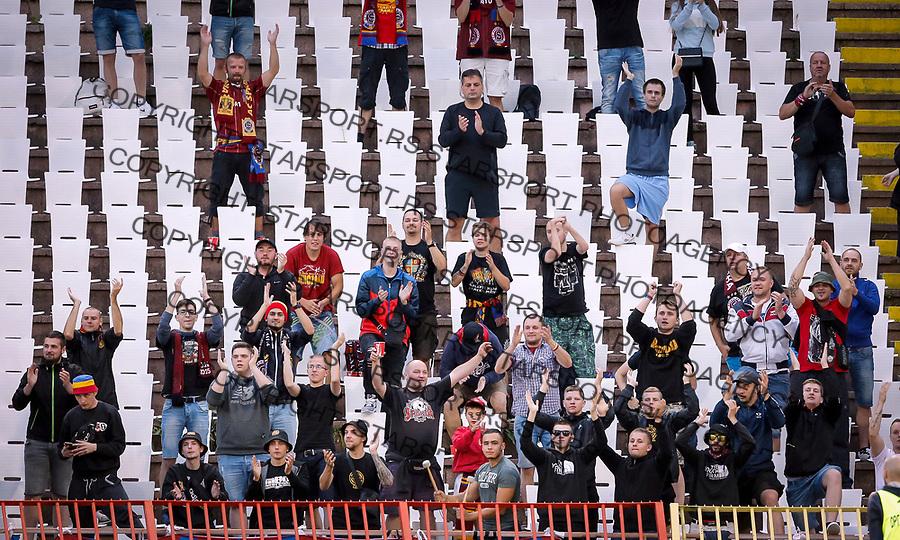 Navijaci fans supporters FC Sparta Prague, Crvena Zvezda - Sparta Prag 27.7.2017. Beograd, Srbija, Europa league, liga Evrope qualification match, kvalifikaciona utakmica<br /> 27. Jul 2017. (credit image &amp; photo: Pedja Milosavljevic / STARSPORT)