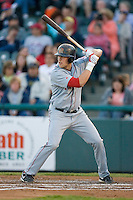 Lars Anderson #21 of the Portland Sea Dogs at bat versus the Trenton Thunder at Waterfront Park May 12, 2009 in Trenton, New Jersey. (Photo by Brian Westerholt / Four Seam Images)