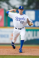 Starting pitcher Sam Runion (65) of the Burlington Royals in action at Burlington Athletic Park in Burlington, NC, Wednesday, August 13, 2008. (Photo by Brian Westerholt / Four Seam Images)