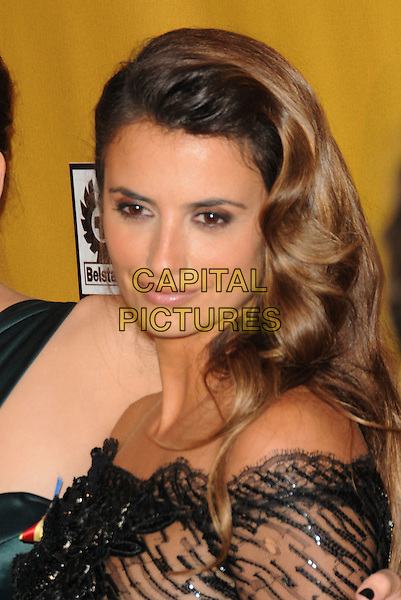 PENELOPE CRUZ.At Weinstein Company Post Golden Globe Party held at Bar210 & Plush Ultra Lounge in Beverly Hills, California, USA. January 17th, 2010                                                                   globes headshot portrait black d off the bare shoulders tanned sun tan.CAP/DVS.©Debbie VanStory/Capital Pictures