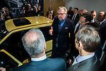 """Le Prince Laurent a inauguré ce jeudi 15 janvier le """"93eme Salon de l'Automobile"""" a Bruxelles en présence du Premier Ministre Charles Michel et de la ministre de la mobilité Jacqueline Galant. Bruxelles, le 15 janvier 2015"""