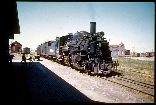 D&amp;RGW #475 K-28 possibly in Santa Fe.<br /> D&amp;RGW  Santa Fe ?, NM