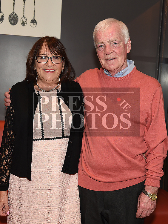 Noel Smokey Kierans and his wife Pauline at his retirment party in Brú. Photo:Colin Bell/pressphotos.ie