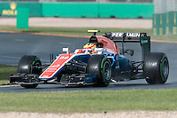 March 18, 2016: Rio Haryanto (IDN) #88 from the Manor Racing during practise session two at the 2016 Australian Formula One Grand Prix at Albert Park, Melbourne, Australia. Photo Sydney Low