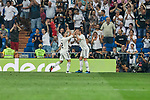 Real Madrid's Dani Carvajal (l) and Gareth Bale celebrate goal during La Liga match. September 01, 2018. (ALTERPHOTOS/A. Perez Meca)