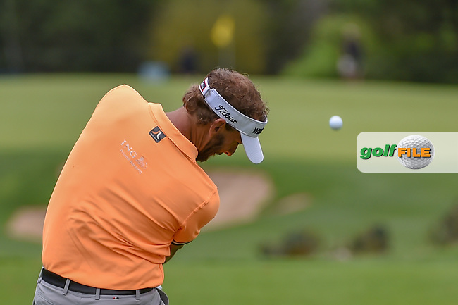 Joost Luiten (NLD) watches his tee shot on 13 during day 4 of the Valero Texas Open, at the TPC San Antonio Oaks Course, San Antonio, Texas, USA. 4/7/2019.<br /> Picture: Golffile | Ken Murray<br /> <br /> <br /> All photo usage must carry mandatory copyright credit (© Golffile | Ken Murray)