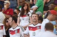 FUSSBALL WM 2014                FINALE Deutschland - Argentinien     13.07.2014 Lena (Freundin von Julian Draxler) auf der Tribuene