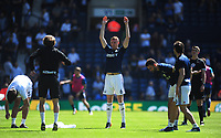 West Bromwich Albion's Jonny Evans during the pre-match warm-up <br /> <br /> Photographer Ashley Crowden/CameraSport<br /> <br /> The Premier League - West Bromwich Albion v Tottenham Hotspur - Saturday 5th May 2018 - The Hawthorns - West Bromwich<br /> <br /> World Copyright &copy; 2018 CameraSport. All rights reserved. 43 Linden Ave. Countesthorpe. Leicester. England. LE8 5PG - Tel: +44 (0) 116 277 4147 - admin@camerasport.com - www.camerasport.com