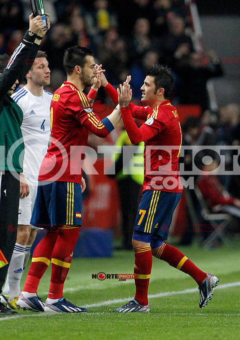 Spain's Villa during international match of the qualifiers for the FIFA World Cup Brazil 2014.March 22,2013.(ALTERPHOTOS/Victor Blanco)