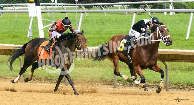 Tiz Rude winning at Delaware Park on 7/27/17