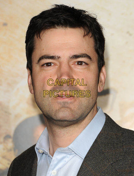 "RON LIVINGSTON .at the L.A. Premiere of HBO's new mini series ""The Pacific"" held at The Grauman's Chinese Theatre in Hollywood, California, USA,.February 24th, 2010..portrait headshot mouth open blue shirt grey gray .CAP/RKE/DVS.©DVS/RockinExposures/Capital Pictures."