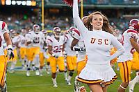San Francisco, CA - October 13, 2011: Cal Bears vs USC at AT&T Park in San Francisco, California. Final score Cal Bears 9, USC 30.