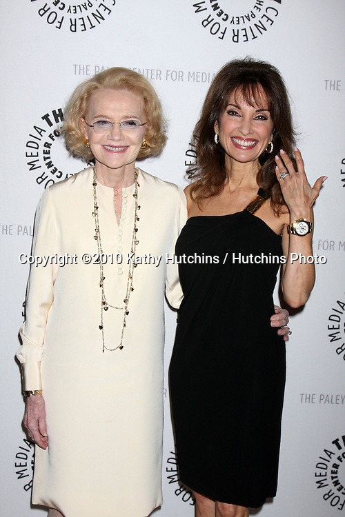 "Agnes Nixon & Susan Lucci.arriving at  ""An Evening with All My Children"" presented by The Paley Center for Media and AFTRA.Paley Center for Media.Beverly Hills, , CA.January 21, 2010.©2010 Kathy Hutchins / Hutchins Photo...."