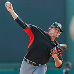 19 March 2015: Miami Marlins pitcher Tom Koehler on the mound during a Spring Training game against the Atlanta Braves at Champion Stadium in the ESPN Wide World of Sports Complex in Kissimmee, Florida. The Braves defeated the Marlins 6-3 in Grapefruit League play. Mandatory Credit: Ed Wolfstein Photo *** RAW (NEF) Image File Available ***
