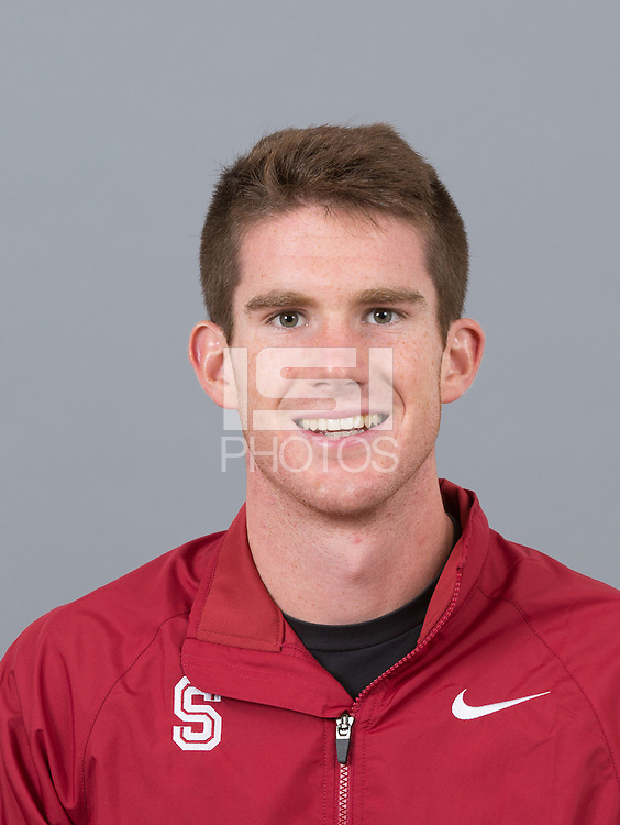 STANFORD, CA - SEPTEMBER 24, 2014--Kevin Bishop, with Stanford University Cross Country Team