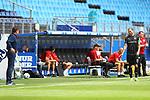 Hamburgs Trainer Dieter Hecking, Sandhausens Dennis Diekmeier und Sandhausens Trainer Uwe Koschinat beim Spiel Hamburger SV gegen den  SV Sandhausen in Hamburg / 280620<br /><br />*** Football - nph00001,  2. Bundesliga: Hamburg SV vs SV Sandhausen, Hamburg, Germany - 28 Jun 2020 ***<br /><br />Only for editorial use. (DFL/DFB REGULATIONS PROHIBIT ANY USE OF PHOTOGRAPHS as IMAGE SEQUENCES and/or QUASI-VIDEO)<br />FOTO: Ibrahim Ot/action press/POOL/nordphoto *** Local Caption *** [4::31065044]