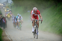 Paris-Roubaix 2012 ..Team Cofidis rider trying to get away