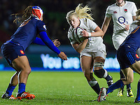 Alex Matthews, player of the match, England Women v France Women in an Old Mutual Wealth Series, Autumn International match at Twickenham Stoop, Twickenham, England, on 9th November 2016. Full Time score 10-5