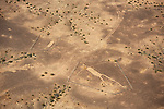Pictured: A series of aerial photos reveal mysterious human and animal figures which are thousands of years old and so vast they can only be viewed from the sky.   The ancient Blythe Geoglyphs are a group of gigantic images drawn on the ground near Blythe, California in the Colorado Desert, which have now been fenced off for 50 years.<br /> <br /> The figures have been there from around 900BC and patterns and circles at the site suggest that worshippers may once have danced around them.   Yet they were not discovered until 1932, when George Palmer, a pilot flying between Las Vegas and Blythe noticed the peculiar markings.   SEE OUR COPY FOR DETAILS<br /> <br /> Please byline: Jassen Todorov/Solent News<br /> <br /> © Jassen Todorov/Solent News & Photo Agency<br /> UK +44 (0) 2380 458800
