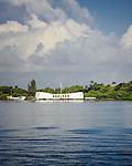 The Arizona Memorial and a Cloud.  Pearl Harbor, Hawaii