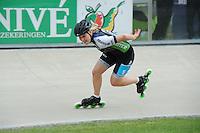 INLINE-SKATEN: HEERDE: Skeeler- en Skatecentrum Hoornscheveen, Europa Cup/Univé Skate Off, 05-05-2012, Sabine Berg GER (#5), ©foto Martin de Jong