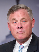 United States Senator Richard Burr (Republican of North Carolina), Chairman, US Senate Select Committee on Intelligence, holds a joint press conference with US Senator Mark Warner (Democrat of Virginia), Vice Chairman, US Senate Select Committee on Intelligence, in the US Capitol to discuss the upcoming committee hearings on Russian intelligence activities in the US and around the world on Wednesday, March 29, 2017.<br /> Credit: Ron Sachs / CNP