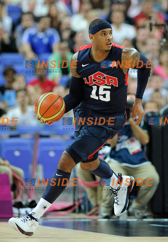 Carmelo Anthony (USA). .Olimpiadi Londra 2012.London 2012 Olympic Games.foto Insidefoto - Italy ONLY