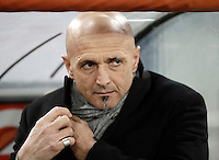 Calcio, ottavi di finale di Tim Cup: Roma vs Sampdoria. Roma, stadio Olimpico, 19 gennaio 2017.<br /> Roma&rsquo;s coach Luciano Spalletti waits for the start of the Italian Cup round of 16 football match between Roma and Sampdoria at Rome's Olympic stadium, 19 January 2017.<br /> UPDATE IMAGES PRESS/Isabella Bonotto