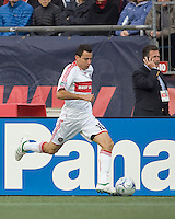 Chicago Fire midfielder Marco Pappa (16) dribbles down the wing. The New England Revolution out scored the Chicago Fire, 2-1, in Game 1 of the Eastern Conference Semifinal Series at Gillette Stadium on November 1, 2009.