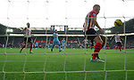Toby Alderweireld of Southampton clears a shot off the line<br /> - Barclays Premier League - Southampton vs Manchester City - St Mary's Stadium - Southampton - England - 30th November 2014 - Pic Robin Parker/Sportimage