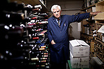 Darrell Corti poses for a portrait in a wine storage room at Corti Bros. in Sacramento, Calif., March 3, 2012.