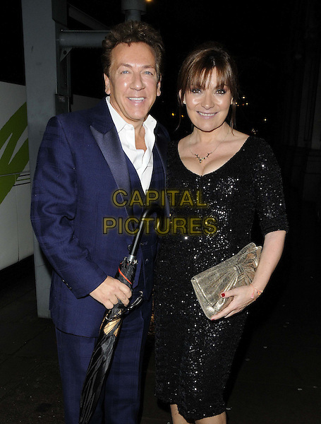 LONDON, ENGLAND - DECEMBER 17: Ross King & Lorraine Kelly attend the ITV Christmas party, Old Billingsgate Market, Lower Thames St., on Tuesday December 17, 2013 in London, England, UK.